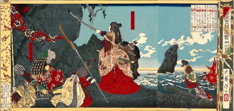 1880 Tsukioka Yoshitoshi Empres Jingu invades Korea